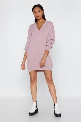 36fe8dbb39e Nasty Gal V Good Oversized Sweater Dress