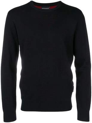 Emporio Armani logo perforated sweater