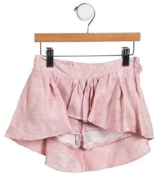 Miss Blumarine Girls' Silk Shantung Skort