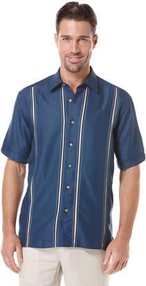 Cubavera Rayon Polyester Insert Panel Shirt