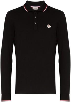 Moncler logo-embroidered polo shirt