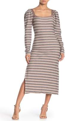 I. MADELINE Square Neck Sweater Dress