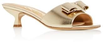 Salvatore Ferragamo Women's Ginostra Kitten-Heel Slide Sandals - 100% Exclusive