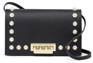 Zac Posen Faux Pearl Leather Crossbody Bag