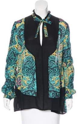 Just Cavalli Printed Silk Blouse