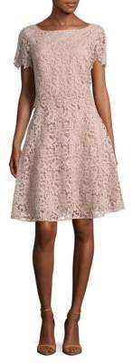 NUE by Shani Short Sleeve Lace Dress