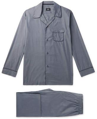 HUGO BOSS Contrast-Tipped Cotton Pyjama Set