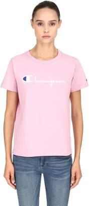 Champion Logo Embroidered Cotton T-Shirt