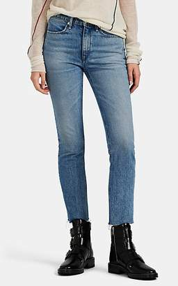 Rag & Bone Women's Mid-Rise Ankle Cigarette Jeans - Blue