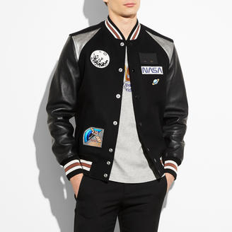 COACH Coach Space Patch Varsity Jacket $895 thestylecure.com