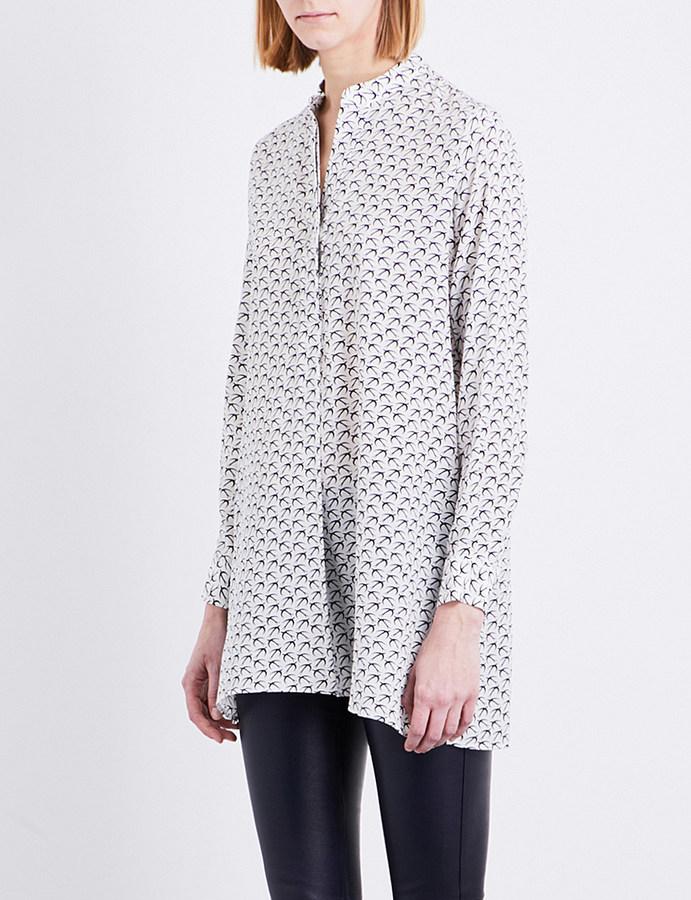 JOSEPHjoseph New Dara bird print crepe de chine blouse