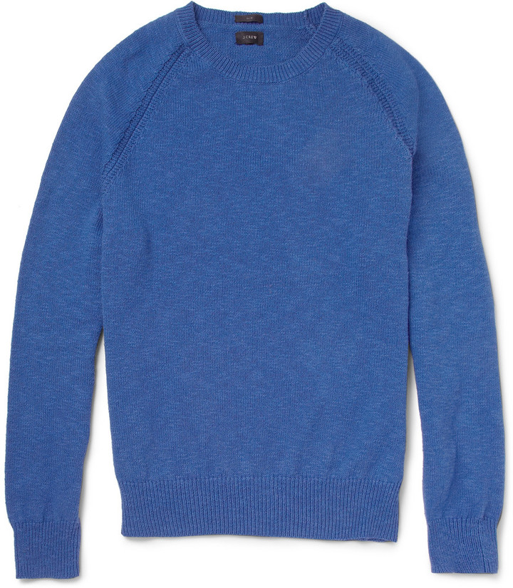 J.Crew Crew Neck Knitted Cotton Sweater