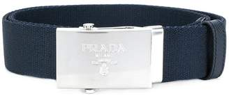 Prada engraved logo belt