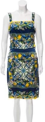Dolce & Gabbana Sleeveless Printed Midi Dress