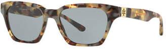 Tory Burch Slim Rectangle Acetate Sunglasses
