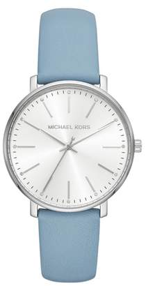 Michael Kors Pyper Leather Strap Watch, 38mm