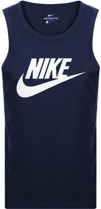 Nike Futura Icon Logo Vest T Shirt Navy