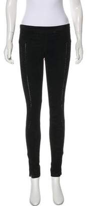 Rebecca Minkoff Suede Mid-Rise Skinny Pants