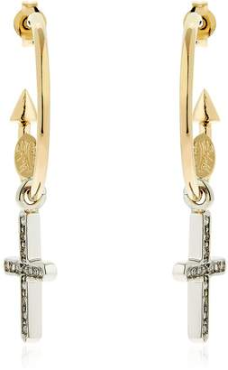 Schield Charms Cross Earrings