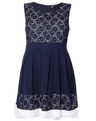 Izabel London Curve Lace Contrast Dress