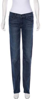7 For All Mankind Mid-Rise Straight-Leg Jeans