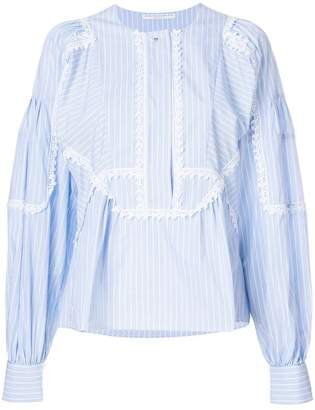 Ermanno Scervino striped poplin shirt