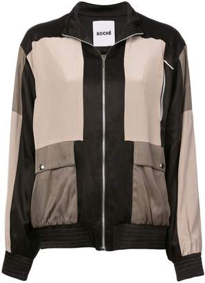 Koché colour-block bomber jacket