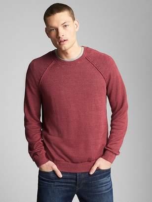 Gap Raglan Sleeve Crewneck Pullover Sweater in Linen