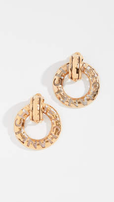 Chanel What Goes Around Comes Around CC Cross Dangle Clip On Earrings