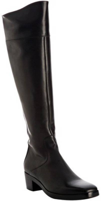 Balenciaga black calfskin tall zip boots