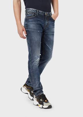Emporio Armani Slim-Fit J06 Jeans In Comfort Cotton Twill