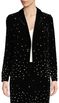 Donna Mizani Stardust Pearly-Bead Blazer