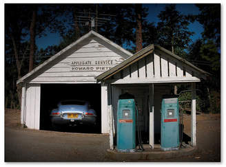 "Joe Felzman Photography 'Gas Pump Find Jaguar' Canvas Art - 24"" x 18"" x 2"""