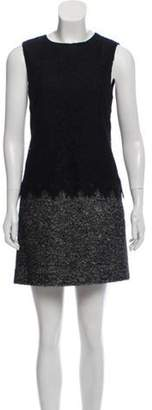Dolce & Gabbana Lace-Paneled Shift Dress Black Lace-Paneled Shift Dress