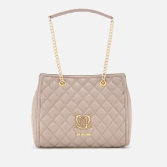 Love Moschino Women's Shoulder Bag - Tan