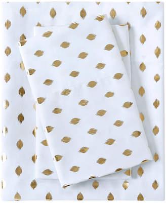 Intelligent Design Metallic Dot Twin Xl Printed Sheet Set Bedding
