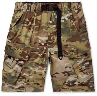 Nike Camouflage-Print Stretch-Shell Shorts - Army green