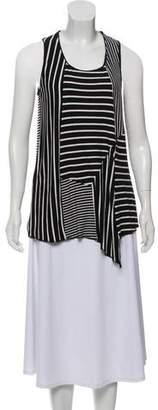 Anna Sui Striped Sleeveless Top