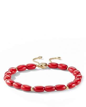 David Yurman Bijoux Spiritual Beads Bracelet with Dyed Sea Bamboo and 18K Gold