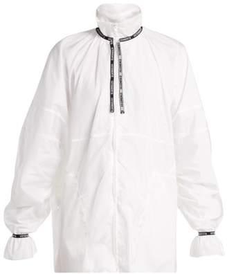 Vetements Logo Jacquard Trim Shell Jacket - Womens - White