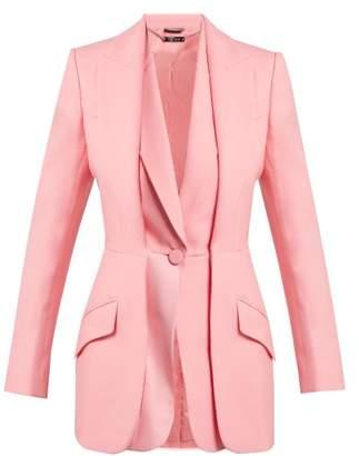 Alexander McQueen Wool Blend Double Lapel Blazer - Womens - Pink