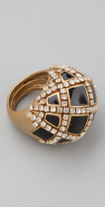 Juicy Couture Black Stone Cocktail Ring