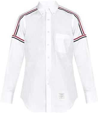 Thom Browne Button-down woven cotton shirt