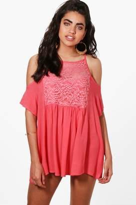 boohoo Ruby Embellished Beach Dress