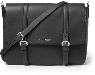 Alexander McQueen Full-Grain Leather Messenger Bag
