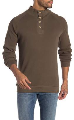 English Laundry Saddle Mock Neck Partial Buttoned Sweater