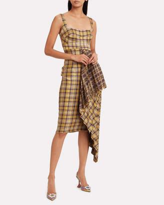 Silvia Tcherassi Daudi Pleated Gingham Dress