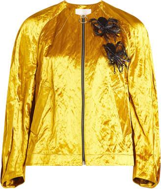 Roksanda Embellished Metallic Jacket with Cotton