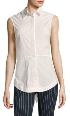 Derek Lam 10 Crosby Poplin Cotton Button-Down Shirt