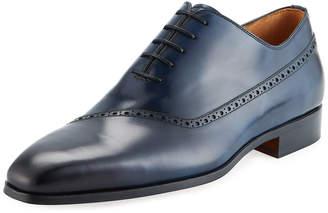 Magnanni Men's Guadiana Brogue-Trim Dress Shoes